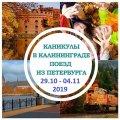 Осенние каникулы в Калининграде, 2018